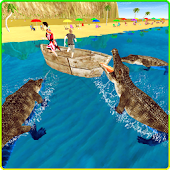 Wild Crocodile Beach Attack 3D