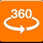 Orange VR 360 Icon