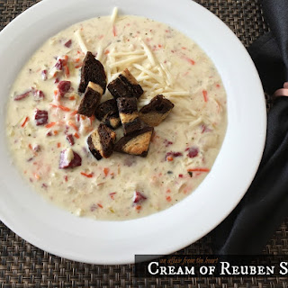 Cream of Reuben Soup.