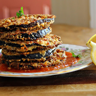 Skinny Eggplant Stack Recipe (Oven Roasted Eggplant).