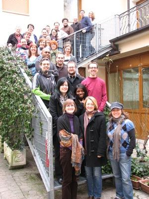 group shot in Padova