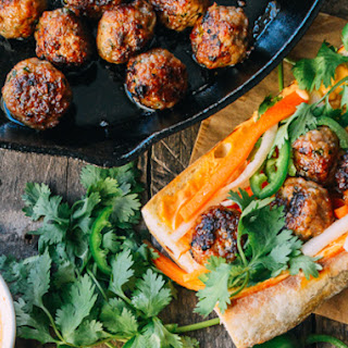 Spicy Pork Meatball Bahn Mi