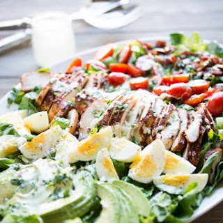 BBQ Cobb Chicken Salad with Creamy Jalapeño Ranch