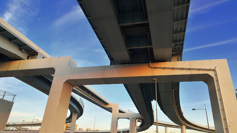 Photo: ■Today's Elevated Expressways This photo is taken by +Takahiro Yanai! Shinonome Junction (東雲JCT) from the north... 今日の高架道路をご紹介。 東雲。 北側から見るとこんな感じでした。 +Elevated Expressways #elevatedexpressways #tokyo #architecture    #tokyophoto #東京フォト