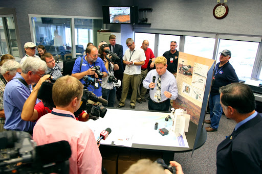 MSL - Radiological Control Center Press Tour.
