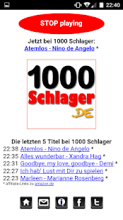 1000 Schlager Player- screenshot thumbnail