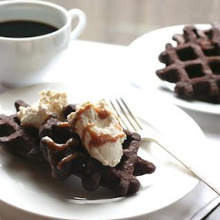 Brownie Batter Waffles.