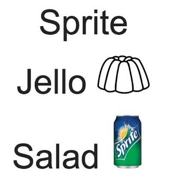 Sprite Jello Salad! Recipe