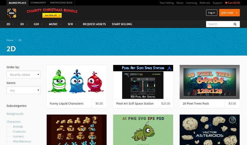 Gamasutra: wen ying's Blog - Top 10 Best 2D Game Asset sites