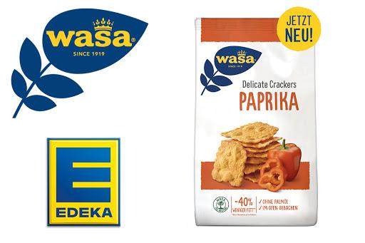 Bild für Cashback-Angebot: Wasa Delicate Crackers Paprika bei EDEKA - Wasa