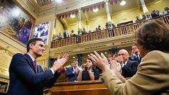 Pedro Sánchez, tras ser investido este martes. (Foto: Congreso)