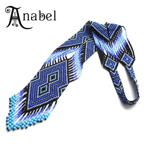 гердан (гайтан) сине-фиолетовой расцветки Anabel купить украина россия