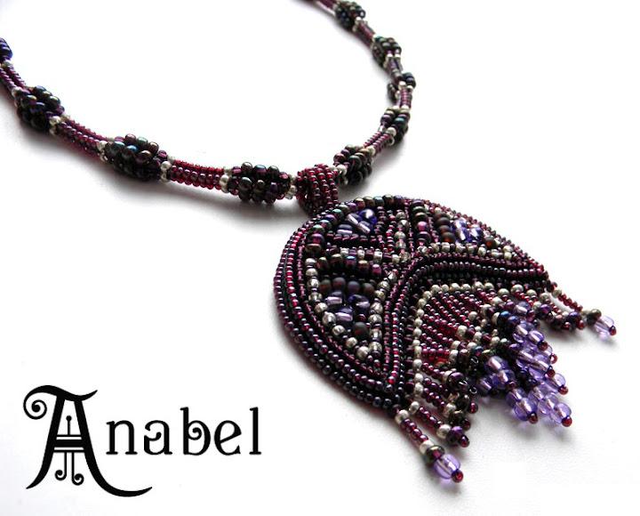 лунница вышитая бисером Anabel кулоны украшения