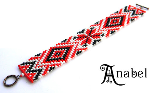 браслет со славянским орнаментом этнические украшения из бисера