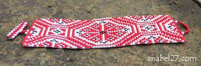 браслет этнический из бисера Anabel славянский орнамент