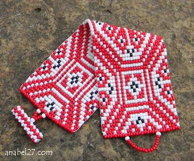 купить славянский браслет этнический из бисера Anabel