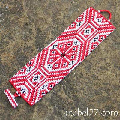 браслет этнический из бисера славянские украшения ру