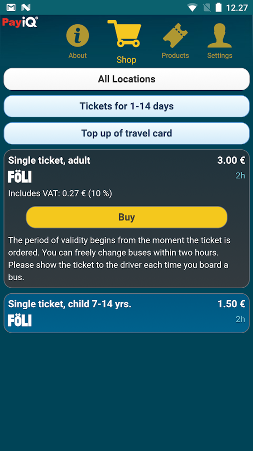 PayiQ Tickets- screenshot