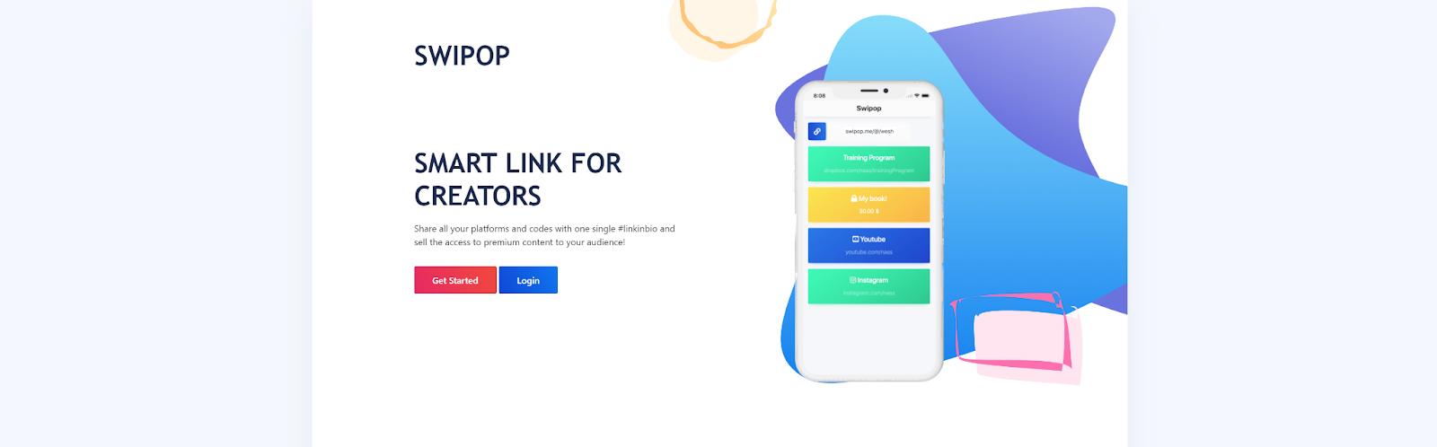 Swipop website