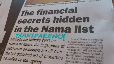 Photo: We need more transparency on how NAMA works.