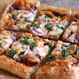 BBQ Chicken Puff Pastry Pizza.