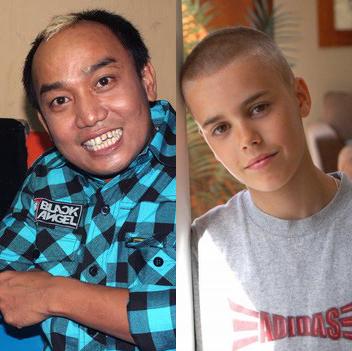 Azis dan Justin bieber