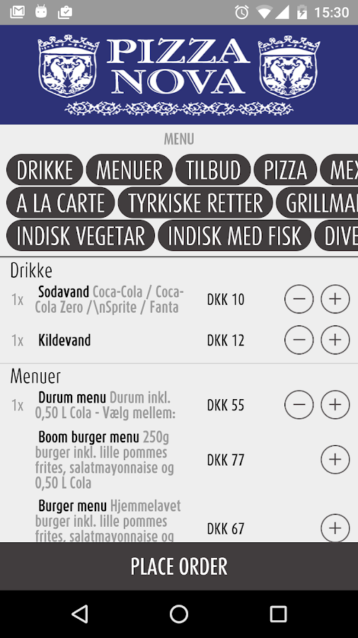 Pizza Nova Herning- screenshot