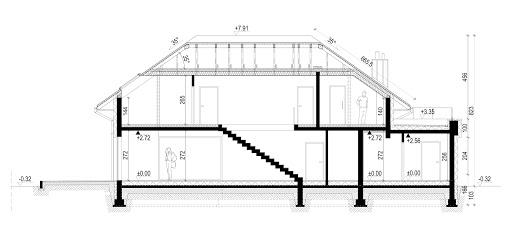 New House 9 - Przekrój