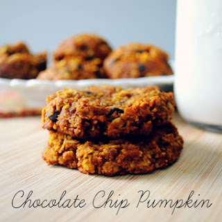Chocolate Chip Pumpkin Oatmeal Cookies (vegan & gluten-free)