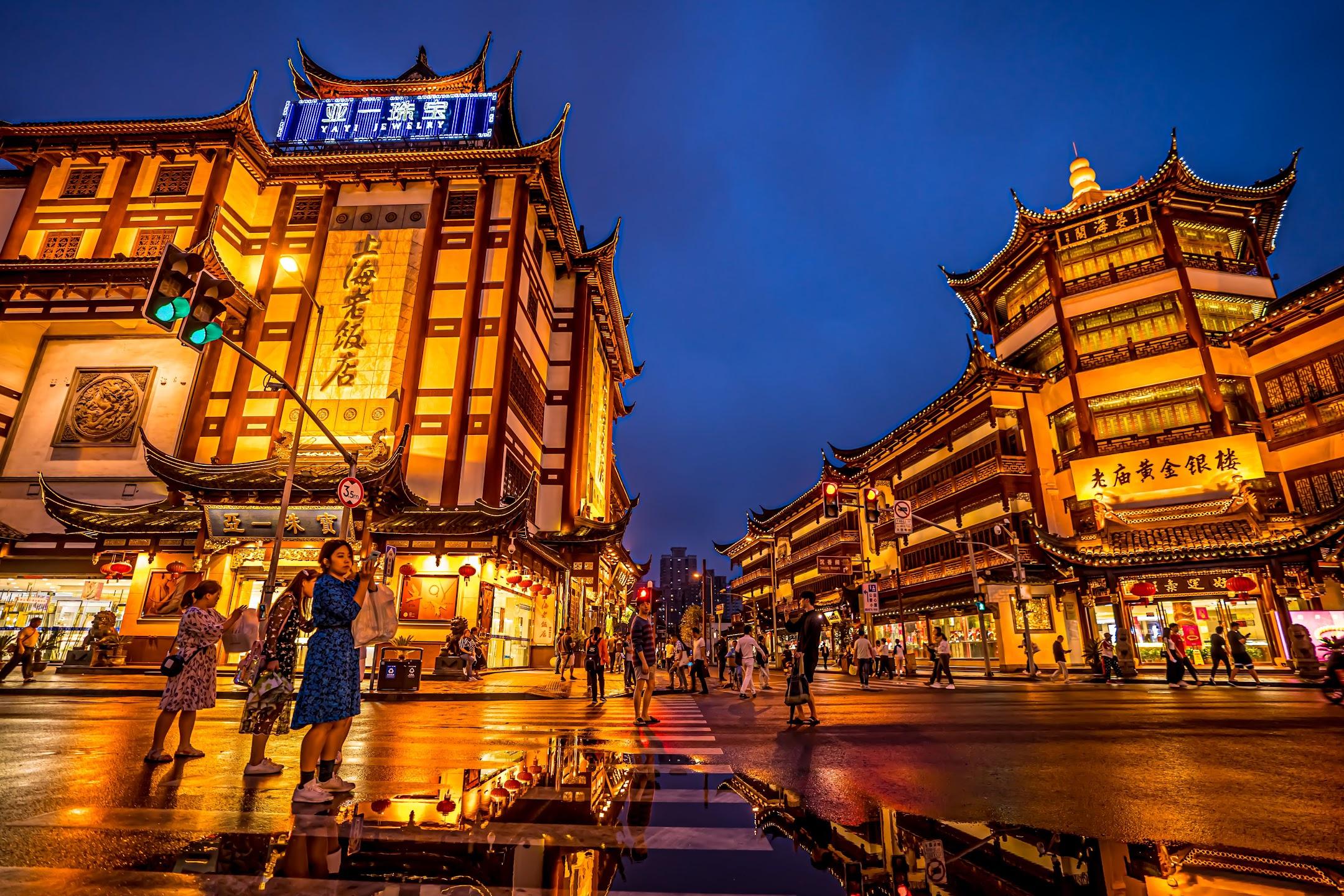 上海 豫園 ライトアップ4
