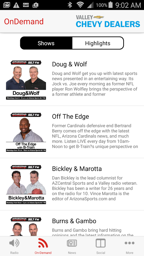 Arizona Sports 98.7 FM- screenshot