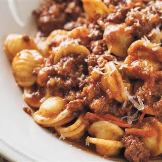 Orecchiette Bolognese Pasta Recipe