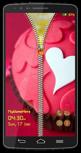 Cake Zipper Lock Screen