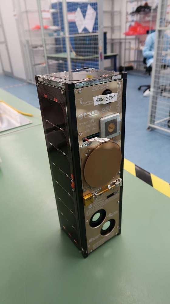 The ZACube-2 satellite, weighing at just 4kg, is SA's most advanced nanosatellite to date. Picture: SUPPLIED