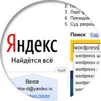 Yandex wordpress