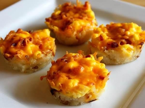 Muffin Cup Make Ahead Cheese Potatoes