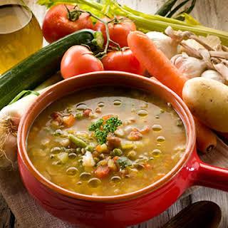 Slow Cooker Lentil & Veggie Stew.