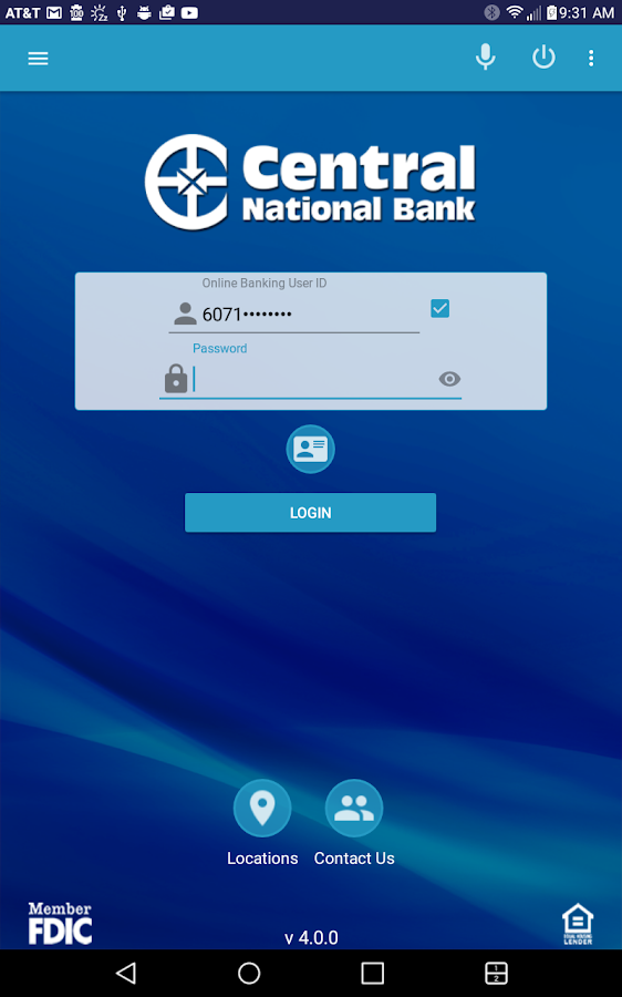 Central National Bank Mobile- screenshot