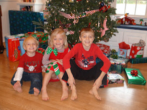 Photo: happy kids on Christmas day