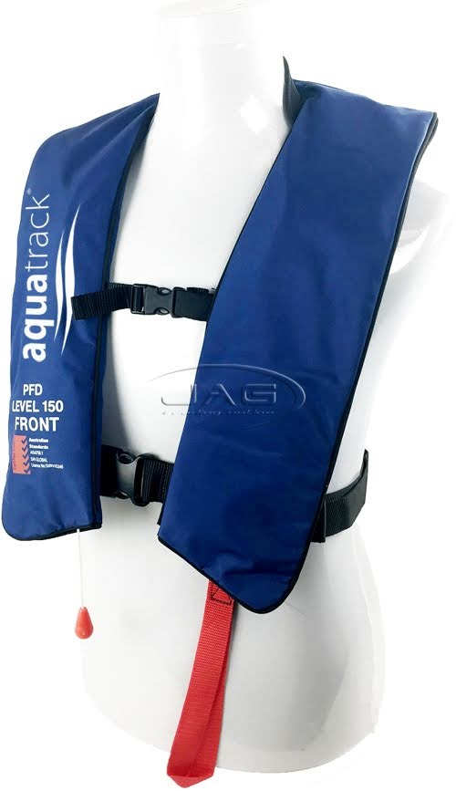 Details about 2 x AQUATRACK ECO INFLATABLE NAVY BLUE PFD - ADULT MANUAL  LIFE JACKET 150N TYPE1