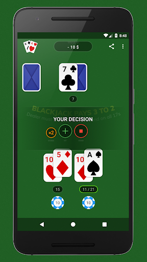 Blackjack - Free & Offline 1.4.0 Mod screenshots 4