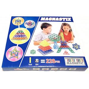 Joc creativ pentru copii, Magnastix 228 piese