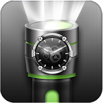 Flashlight Torch with Clock Icon