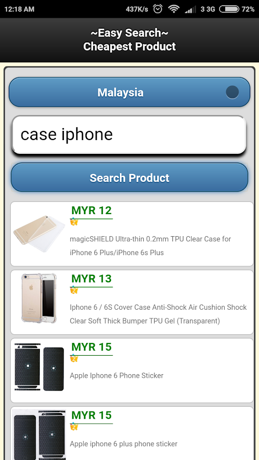 Easy Search Cheapest Product- screenshot