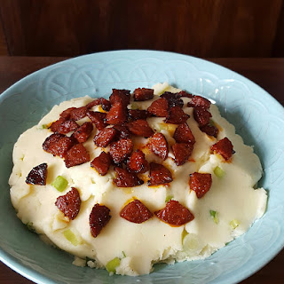 A Cookbook Collection's Creamy Mashed Potato Salad with Chorizo
