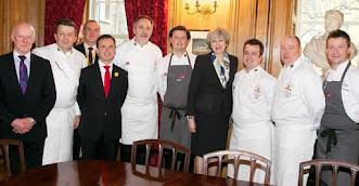 Serving food at Number 10