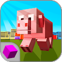 Cube Bad Pig City Rampage 3D icon