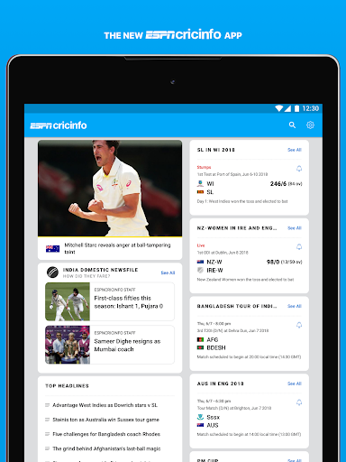 ESPNCricinfo - Live Cricket Scores, News & Videos 6.1.1 screenshots 8