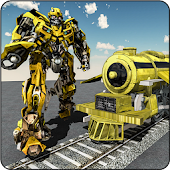Futuristic Robot Transformation Train Game