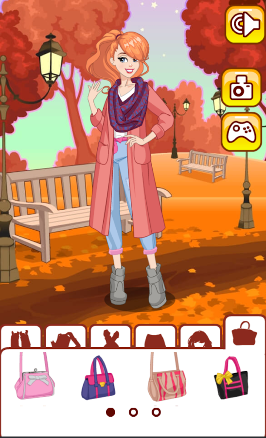 Autumn fashion dress up- screenshot